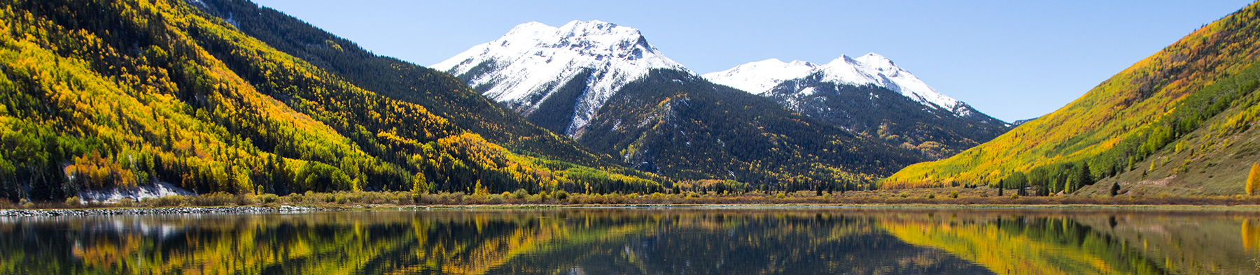 Mountain and Lake in the Front Range area of Colorado