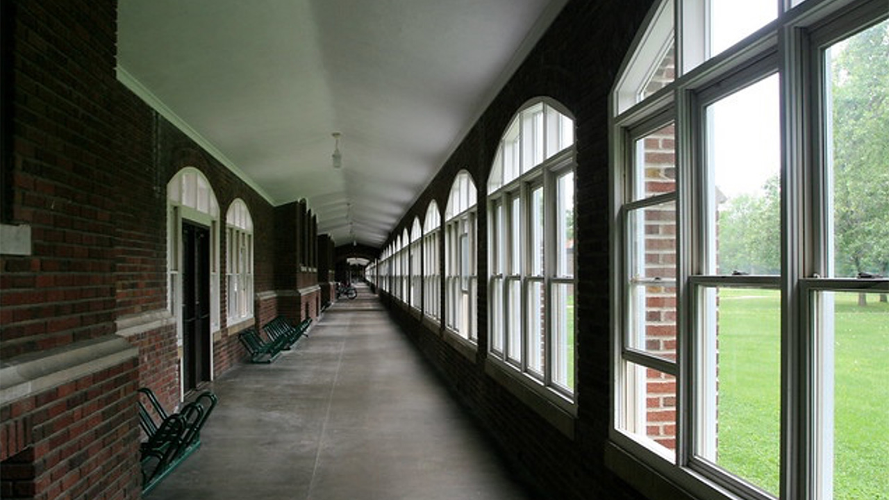 The South Loggia on the campus of Grinnell College.