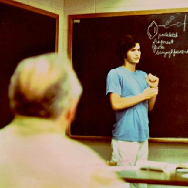 Joel Spiegel '78 presenting his summer work for Prof. Joe Danforth