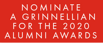 Button: Nominate a Grinnellian for the 2020 Alumni Awards