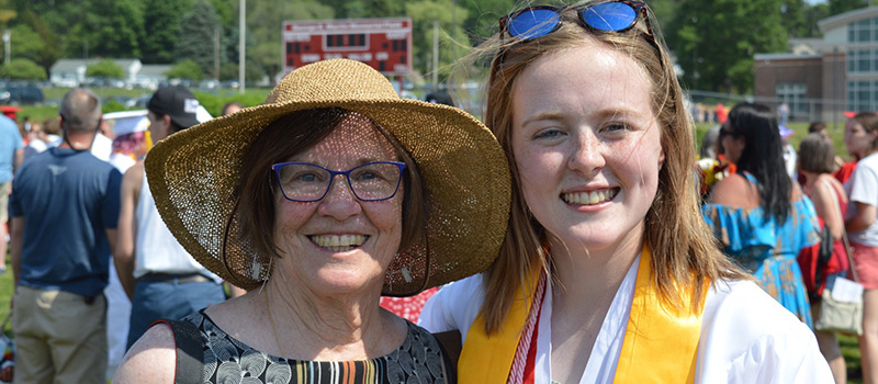 Jill Welch '64, left, and Lucy Hartley '25