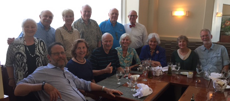 A number of Grinnellians attended a Lunch Bunch gathering in 2016.