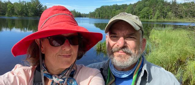 Jonathan Higgins '80 and his wife, Susan Besson