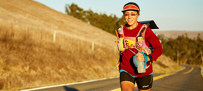 Natalie Larson '06 - running along the California Coastal Trail