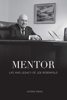 Mentor book cover. Features an image of Joe Rosenfield sitting at a desk.