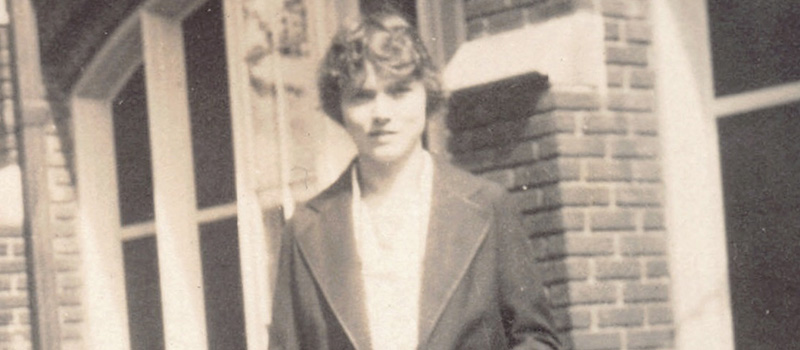 Marjorie Dunton Herman 1921, Paul's grandmother, was photographed on Grinnell's campus a century ago.