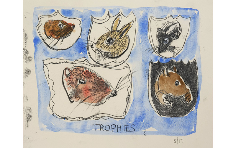 Trophies is a monograph created by Fay Stanford '72 that focuses on the natural world.