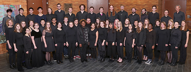 Group shot of the 2017/2018 Grinnell Singers