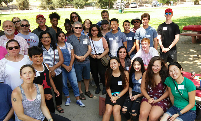 Grinnell College Summer Picnics: LA Group Photo