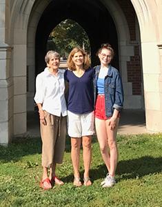 Carolyn Toft '58, Jessica Toft '89, & Sophia Schott '21