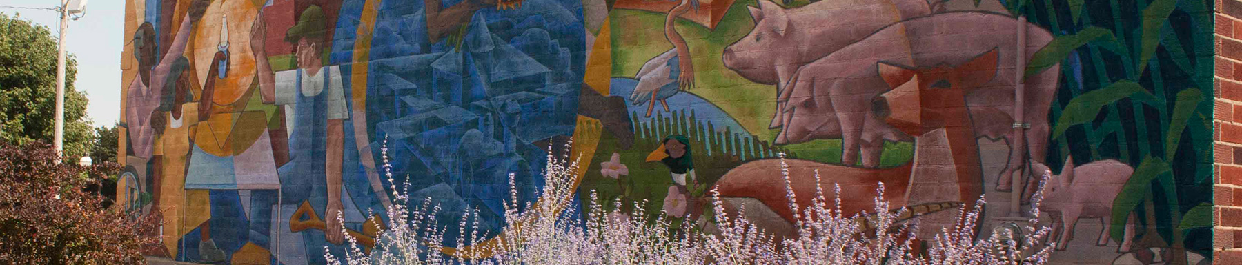 Railway Express Mural in Grinnell
