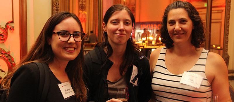 Marissa Gilman '09, Katie Kaplan '09, and Josie Seff Sotomayor '99