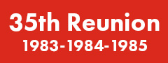 35th Reunion (1983-1984-1985) Button