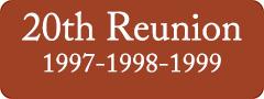 Button: 20th Reunion, 1997 - 1998 - 1999