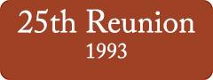 Button: 25th Reunion, 1993