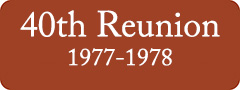 Button: 40th Reunion, 1977 - 1978