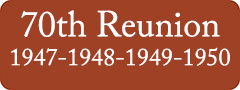 Button: 70th Reunion, 1947 - 1948 - 1949 - 1950
