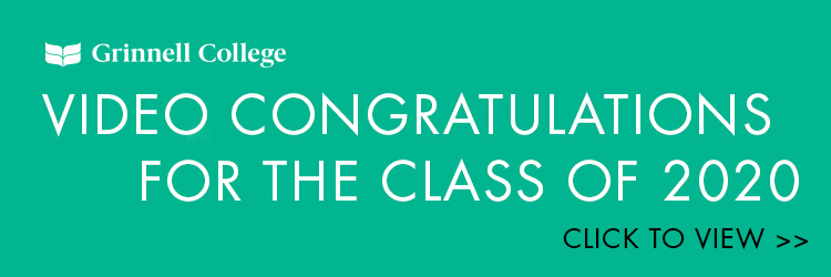 White text on seafoam green background. Text: Video Congratulations for the class of 2020