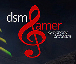 Logo for the Des Moines Gamer Sympony Orchestra