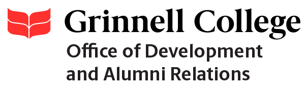 Grinnell College logo with Office of Development and Alumni Relations
