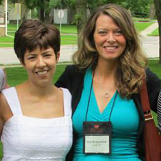 Karmi Mattson (in white) and a friend at Reunion.